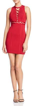 GUESS Mirage Cutout Lace-Up Body-Con Dress