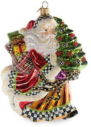 Mackenzie Childs MacKenzie-Childs Dashing Santa Ornament