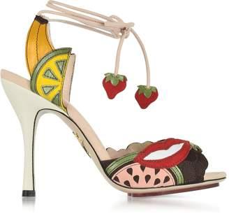 Charlotte Olympia Fruit Salad Multicolor Suede Sandal