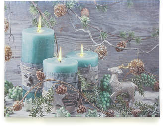 N.U.H. LED アートピクチャー Blue candle & Pinecone