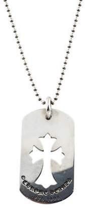 Chrome Hearts Cross Cutout Dog Tag Pendant Necklace silver Cross Cutout Dog Tag Pendant Necklace