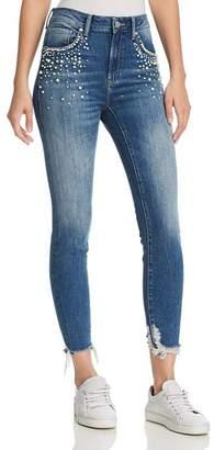 Mavi Jeans Tess Embellished High Rise Skinny Jeans in Indigo Pearl
