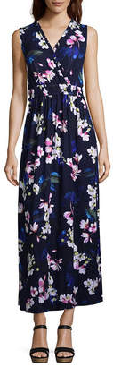 Spense Sleeveless Floral Maxi Dress