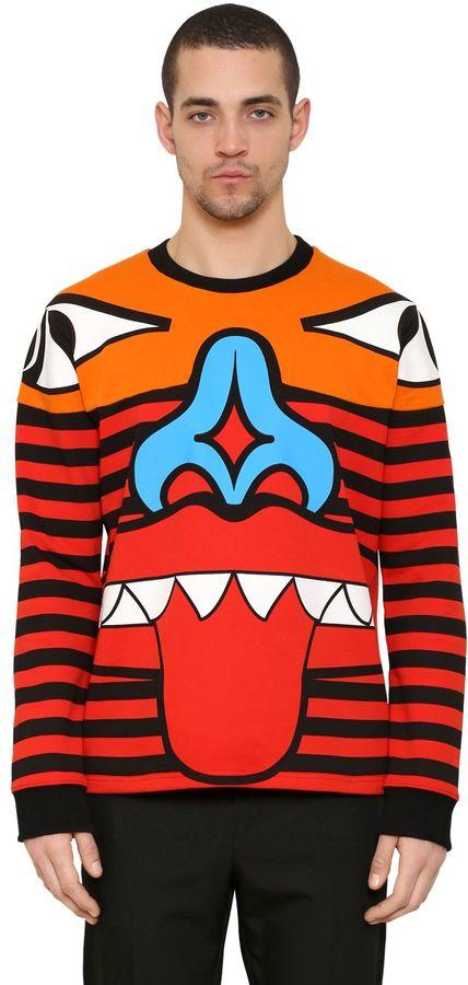 Totem Patchwork Cotton Sweatshirt