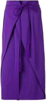 Alberta Ferretti wrap style straight skirt