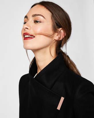 KIKIIE Cashmere-blend wrap front coat