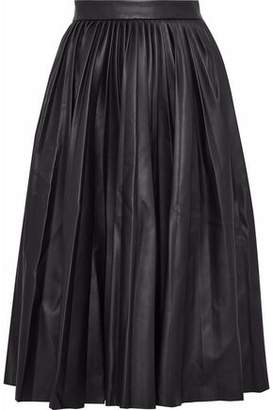 M Missoni Pleated Faux Leather Skirt