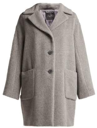 Max Mara Green Coat - Womens - Grey