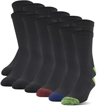 Gildan Men's Half Cushion Crew Socks, 12-Pack