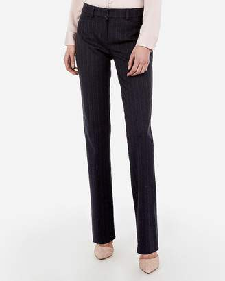 Express Mid Rise Barely Boot Striped Columnist Pant