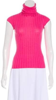 Chanel Cashmere Rib Knit Top