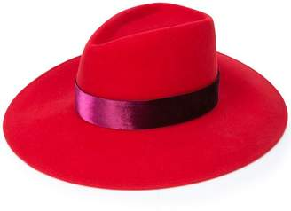 Eugenia Kim satin band fedora hat
