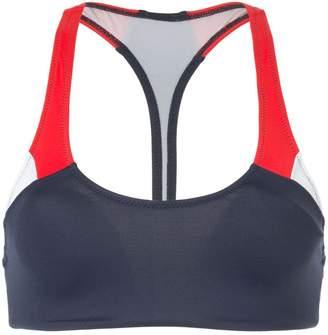The Upside colour block bikini top