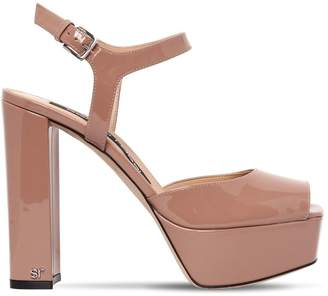 Sergio Rossi 125mm Patent Leather Sandals