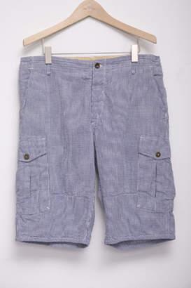 Rag & Bone Cargo Short in Blue Gingham
