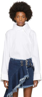 Marques Almeida White Cotton Rectangle Blouse