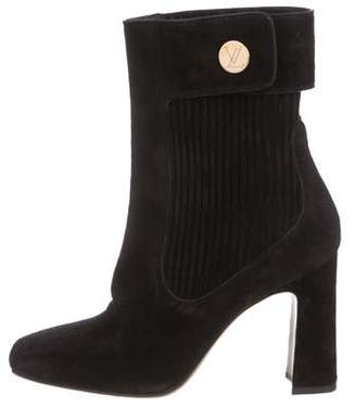 Louis Vuitton Mid-Calf Square-Toe Boots