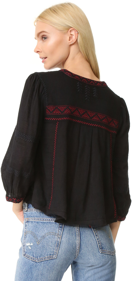 Free People The Wild Life Embroidered Top 8
