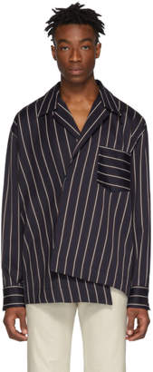 Wooyoungmi Navy Striped Shirt