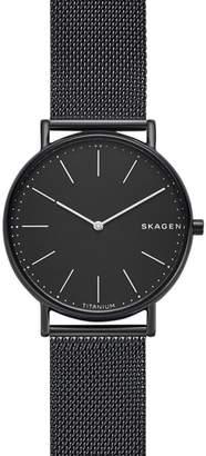 Skagen Signatur Titanium Mesh Strap Watch, 40mm