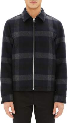 Theory Wyatt Regular Fit Plaid Wool Shirt Jacket