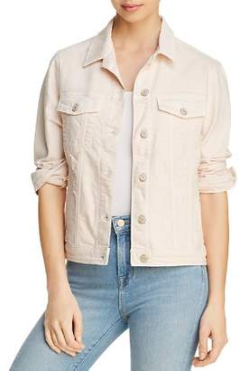 Mavi Jeans Katy Denim Jacket in Heavenly Pink Distressed - 100% Exclusive
