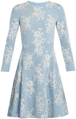 HUISHAN ZHANG Kiera cotton-blend floral-lace dress