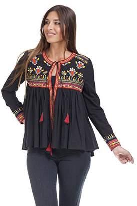 AG Jeans Peace & Love by Calao Women's PR7212B Blouse, Black (Negro