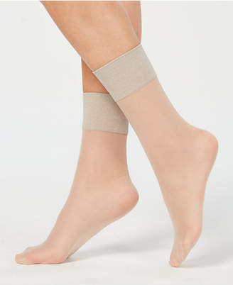 Hue Metallic-Band Anklet Socks