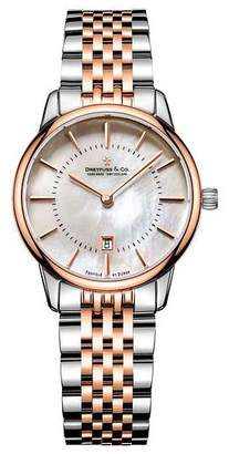 Dreyfuss & Co Ladies' Two Tone Steel Bracelet Watch