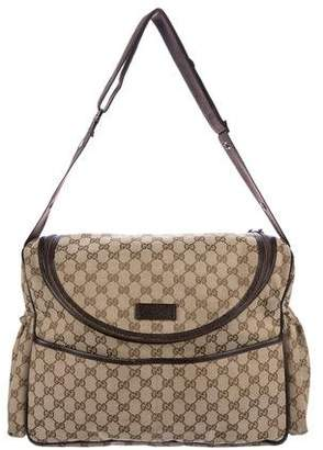 Gucci GG Canvas Diaper Bag