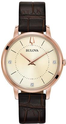 Bulova Women's Leather Watch