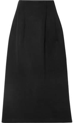 The Row Lantely Scuba Midi Skirt - Black