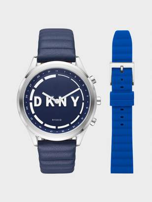 DKNY Minute Woodhaven Hybrid Smartwatch Set