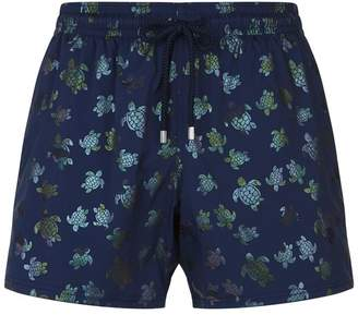 Vilebrequin Moonrise Metallic Turtle Swim Shorts