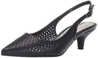 Easy Street Shoes Women's Enchant Slingback Dress Pump on Kitten Heel Shoe