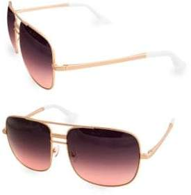 LIA 60MM Square Aviator Sunglasses