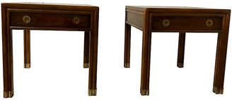 One Kings Lane Vintage Henredon Campaign Style Side Tables,Pair - Von Meyer Ltd.