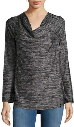 Andrew Marc PERFORMANCE Knit Cowl Neck Top