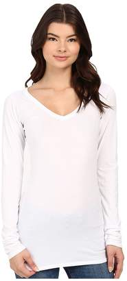 LAmade Fitted V-Neck Tee Women's Long Sleeve Pullover
