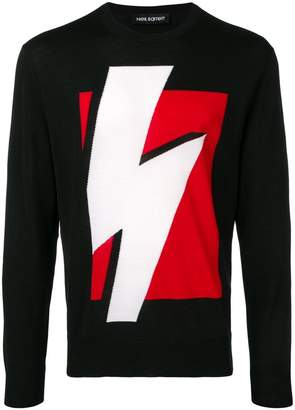Neil Barrett lightning bolt jumper