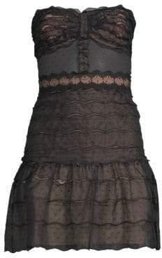 Alexis Adlai Strapless Sheer Mini Dress