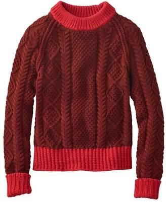 L.L. Bean L.L.Bean Women's Signature Cotton Fisherman Sweater, Colorblock