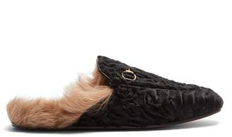Gucci Princetown shearling-lined fur loafers