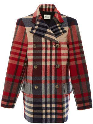 Khaite Clara Plaid Wool-Blend Coat