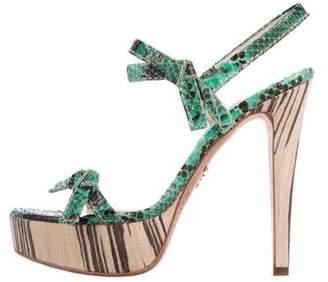 Prada Snakeskin Platform Sandals