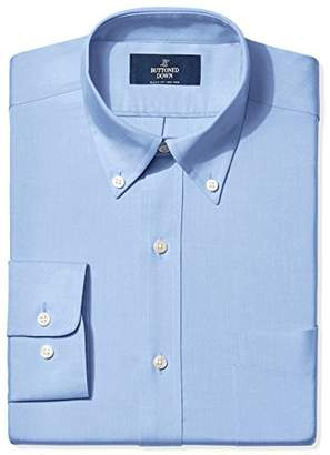 Buttoned Down Men's Classic Fit Button-Collar Solid Non-Iron Dress Shirt (Pocket)
