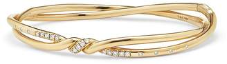 David Yurman Continuance Center Twist Bracelet with Diamonds in 18K Gold