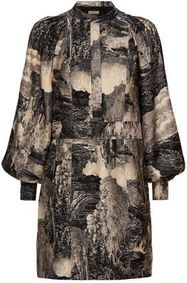 Burberry Landscape Silk Dress