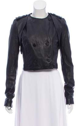 Alexander Wang Collarless Leather Jacket
